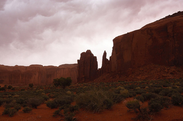Monument Valley po burzy