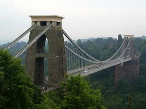 Clifton Suspension Bridge w Bristolu