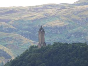 Panorama na Abbey Craig. Wallace Monument