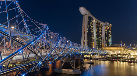 Helix Bridge i Marina Bay